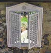 Shabby Chic Mirror with Lattice Doors from fallen fruits
