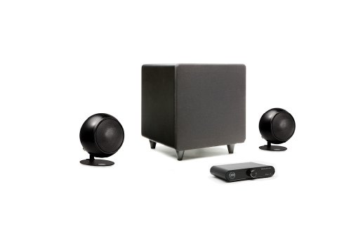 Orb Audio Mini Express Complete 2.1 Home Audio System (Metallic Black Gloss)