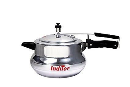Inditop Aluminium 5.5 L Pressure Cooker (Inner Lid)