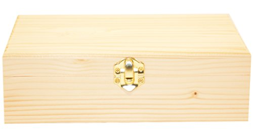 Darice 9151-58 Rectangle Wood Box, 8-1/4-Inch - 1