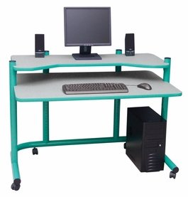 Buy Low Price Comfortable Computer Workstation in Green and Spatter Grey by Studio Designs (B005D4ZJI6)