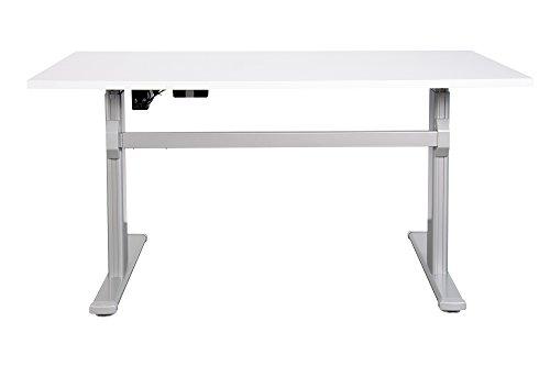 Schreibtisch-mit-elektrischer-Hhenverstellung-ergonomisch-Sitz-Stehtisch-Brotisch-Arbeitstisch-140-x-80-cm-Lichtgrau