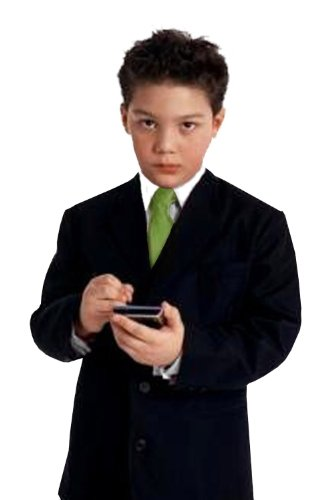 Gino Giovanni G230 Boy Black Suit With Green Tie From Baby To Teen (10) front-805259