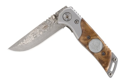Puma P244301 Stainless Steel Damascus Folder With Thuya Wood Handle