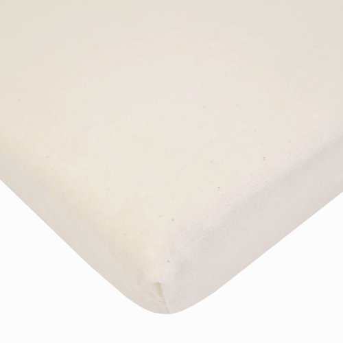 American Baby Company Cotton Natural Velour Crib Sheet, Natural