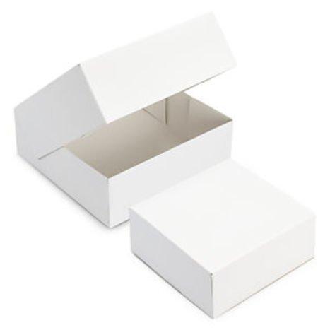 FaisTonGateau - Lot de 50 boîtes pâtissières 22x8 - 50 boîtes à entremet carrée blanche