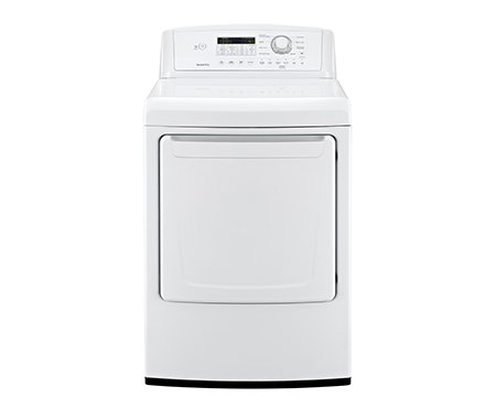 LG DLE4870 7.3 Cu. Ft. Extra Large Capacity Electric Dryer with Sensor Dry, White