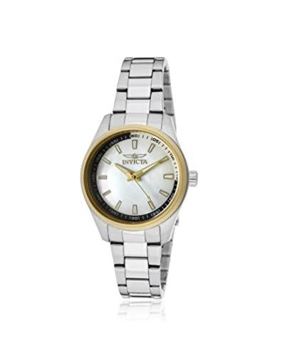 Invicta Women's 12831 Silver/White Mother of Pearl Stainless Steel Watch