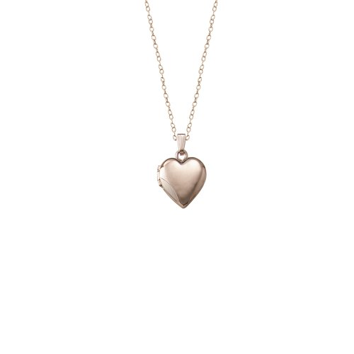 Children's 14k Gold-Filled Polished Heart Locket Necklace, 15