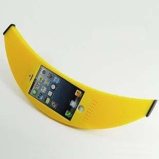 [i Banana for iPhone6 4.7inch] 話題騒然!! 巨大バナナ型 シリコン ケース (イエロー)