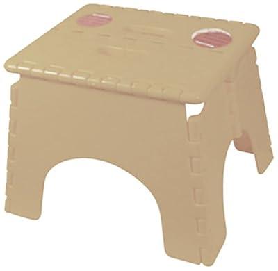 B&R Plastics 101-6BG Beige EZ Foldz Step Stool