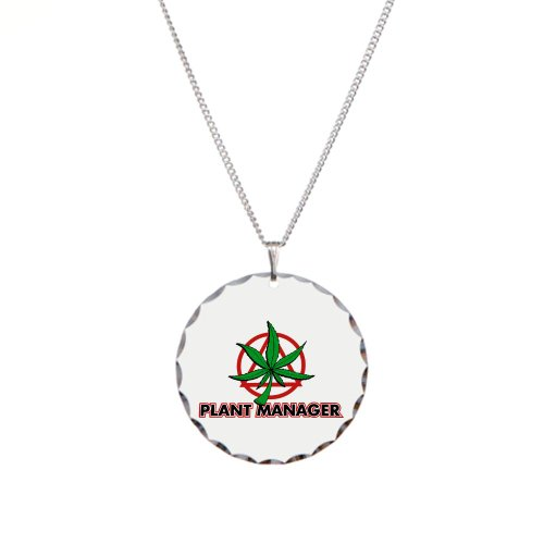 Necklace Circle Charm Marijuana Plant Manager