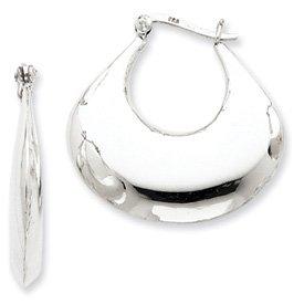 Sterling Silver Classic Hollow 3-D Hoop Earrings