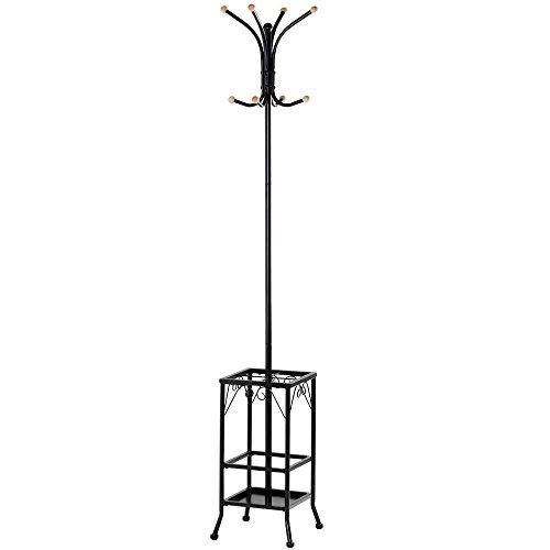 Yaheetech Metal Coat Rack Umbrella Stand Holder Vintage Hat Jakcet Metal Tree 8 Hooks 3