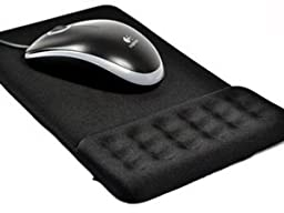 Cosmos ® Fabric/Microfiber Mouse Pad with Gel Wrist Rest/silicone backing(Black)