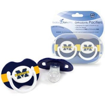 Ncaa Michigan Wolverines Baby Fanatic Pacifiers (2-Pack) front-607302