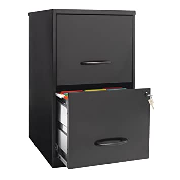 "OfficeMax Two-Drawer Vertical File, 18"" D, Letter Size, Black"