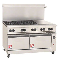Wolf C60-Sc-6B-24Gb-P 60€ Gas Open Burner/Griddle/Broiler Top Restaurant Range - Challenger