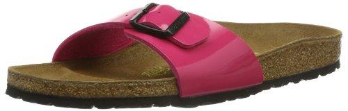 Birkenstock Madrid - Ciabatte Donna, Rosa (Vernis Pink), 39 EU