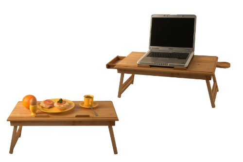 Laptop Table - Breakfast Tray Vistable DUO + Drawer and Mug Pad ! FREE NAME ENGRAVEMENT !