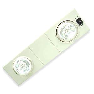 LED Ceiling Light - Directional Spots 2 X 5 Strip, 2 intensities