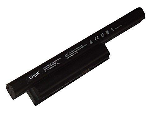 vhbw Li-Ion Batterie 6600mAh (11.1V) pour Notebook Sony VAIO VPCEB1S0E/WI, VPCEB1Z0E/B, VPCEB20, VPCEC1M1E/WI comme VGP-BPS22.