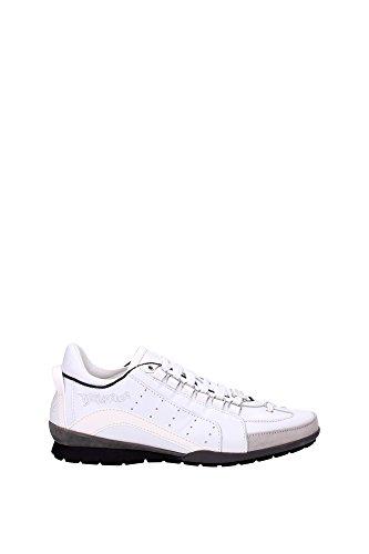 Sneakers Dsquared2 Herren Leder Weiß, Grau und Schwarz S16SN4347131062 Weiß 41EU thumbnail