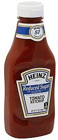 Heinz Tomato Ketchup, Reduced Sugar, Bottles, 13 oz
