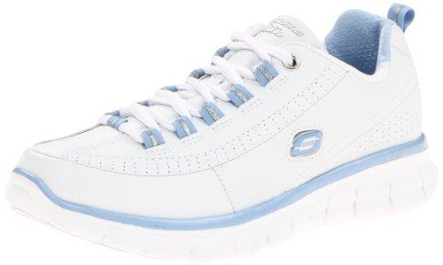 Skechers synergy - elite status , mujer, blanco (wsl), 36