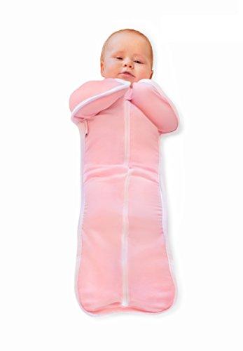 Bebemooi Sleephack: 100% Cotton Natural Sleeved Sleeper (Medium, Pink) - 1