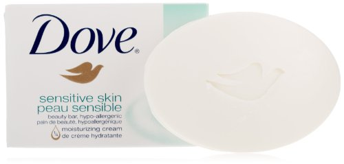 Dove Bar Soap, Sensitive Skin Unscented, 4 Ounce, 16 Count