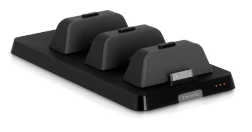 Xtrememac InCharge X3 Station de charge avec 3 ports pour iPhone/iPad Noir