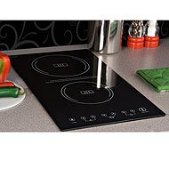 Summit : SINC2220 12 Induction Cooktop with 2 Cooking Zones - 240V