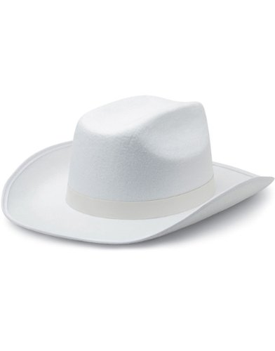 New Child Country White Ranger Cowboy Cow Boy Felt Costume Hat
