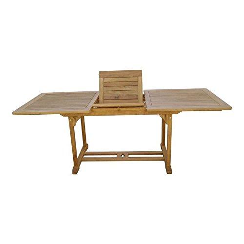 Gartentisch Sheffield 160-210/90/75 cm Teakholz