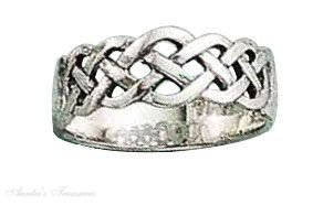 Sterling Silver Triple Braid Woven Ring Size 6