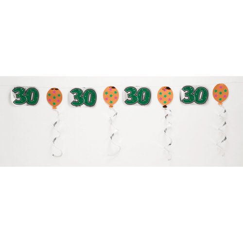 Creative Converting 30th Embossed Foil Party Decor Garland