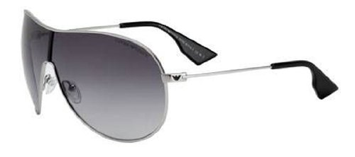 Emporio Armani Men's 9621 Silver Frame/Grey Gradient Lens Metal Sunglasses