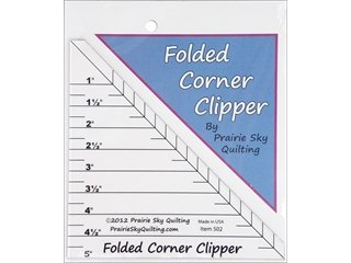 Review Prairie Sky Quilting Templates Folded Corner Clipper