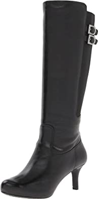 乐步Rockport Women's Seven to 7 65mm Tall Boot女士高筒靴折后$112.54黑