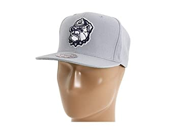 Buy Georgetown Hoyas Mitchell & Ness Vintage Basic Logo Gray Snapback Hat by Mitchell & Ness