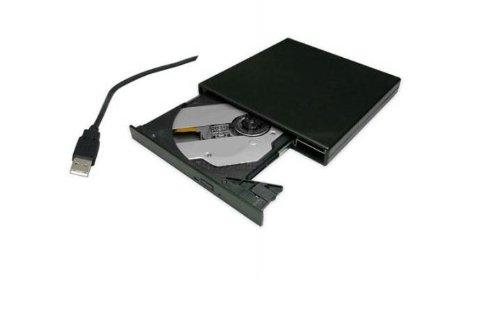 SANOXY® Black USB 2.0 External CD Burner For Netbook Samsung N150,Dell Inspiron Mini 10, ASUS Eee PC Seashell 1005PE-PU17-BK 1005PE-MU17-BK 1001P-MU17-BK 1005PE-MU17-WT 1005PE-PU17-BU 1005HA-MU17-BK 1201N-PU17- BK, Toshiba Mini NB205-N325BL NB305-N410BL N