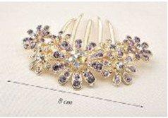 [Flower motif: glitter! rhinestone comb kanzashi accessory