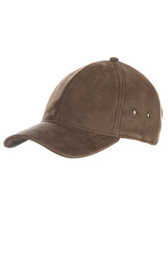 Antique Leather Baseball Cap, Brown, Size 1 Size