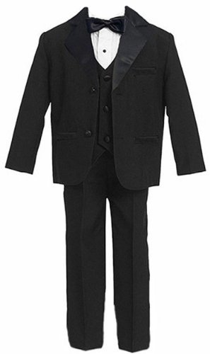 Gino Giovanni Usher Boy Tuxedo Suit Black From Baby to Teen (2T)