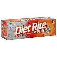 Diet Rite Pure Zero Tangerine 12-pack