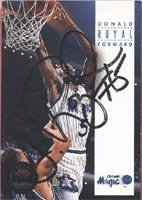 Donald Royal Orlando Magic 1994 Skybox Autographed Hand Signed Trading Card. by Hall+of+Fame+Memorabilia