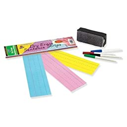 Pacon - 6 Pack - Dry Erase Sentence Strips 12 X 3 Assorted 20 Per Pack \
