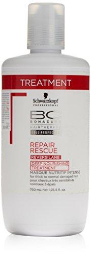 Schwarzkopf Bc Repair Rescue Reversilane Maschera Idratante per Capelli - 750 ml