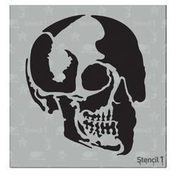 Bulk Buy: Stencil1 (3-Pack) 6\'X6\' Stencil Skull Profile S1-6X6-53S